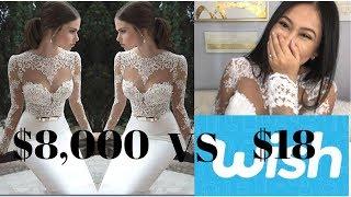 $18 Wedding Dress From Wish: What I got (Org Price $8,000)