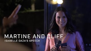 Martine and Cliff: Isabelle Daza's Speech