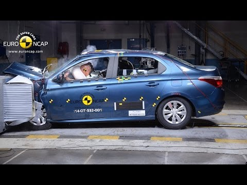 Peugeot 301/Citroen C-Elysee - test zderzeniowy Euro NCAP (3 gwiazdki)