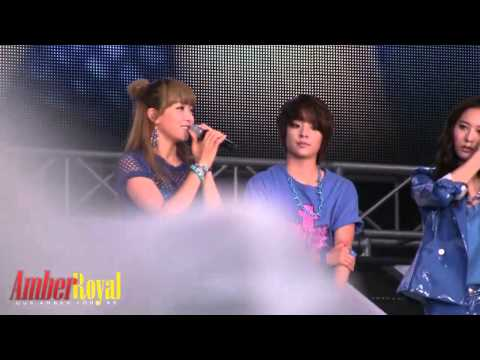 120818 f(x) Amber Introduction @SMTown in seoul