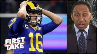 Jared Goff looked petrified in Rams' Super Bowl LIII loss – Stephen A. | First Take
