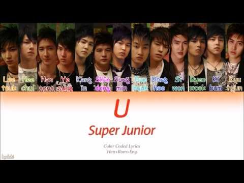 Super Junior (슈퍼주니어) – U (Color Coded Lyrics) [Han/Rom/Eng]