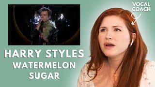 HARRY STYLES I watermelon sugar LIVE I vocal coach reacts!