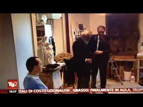 Servizio di Rai 2 sul Corso di Scultura per non vedenti alla Scuola di Arte Sacra di Firenze