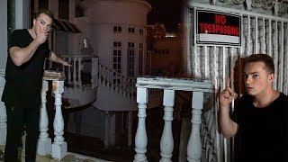 SNEAKING INTO ABANDONED $22 MILLION MANSION! (HAUNTED)
