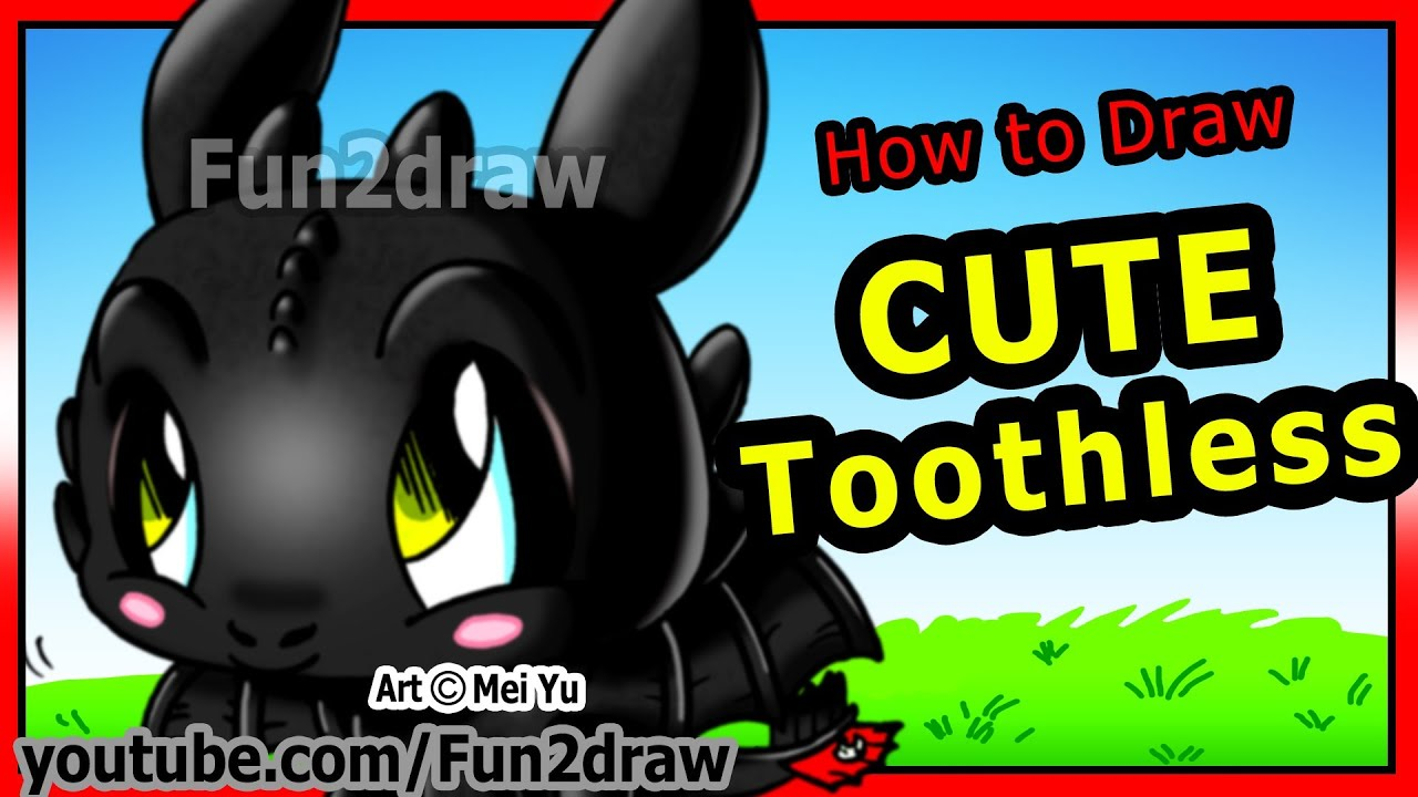 How To Draw Toothless How To Train Your Dragon Night