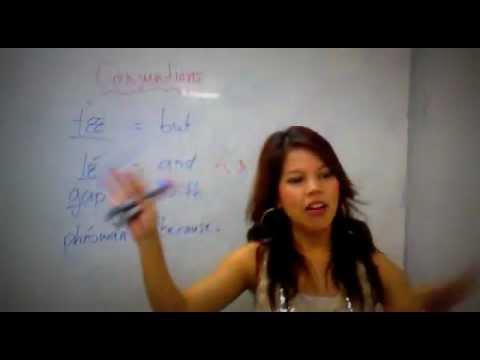 Thai language lessons : Conjuntions
