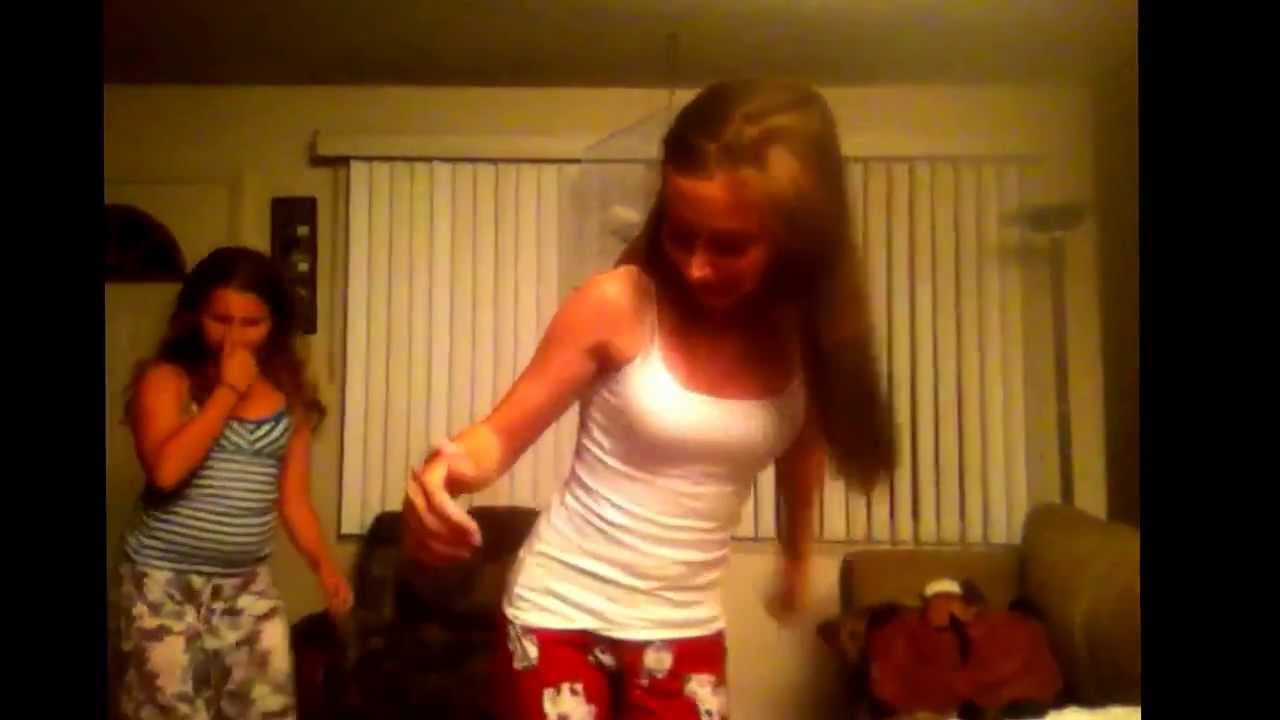 Naked girls work out on video
