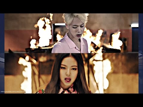 BTS & BLACKPINK - Playing With FIRE '불장난X불타오르네' MASHUP