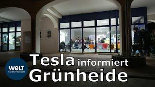 GRÜNHEIDE HAT REDEBEDARF: Tesla informiert Bürger über die Gigafactory