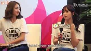 Jiyeon's reaction when Eunjung falls
