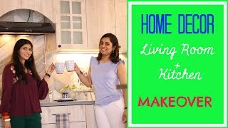 A Living Room  & Kitchen Makeover :  Indian Home Design : Home Decor Tips & Ideas