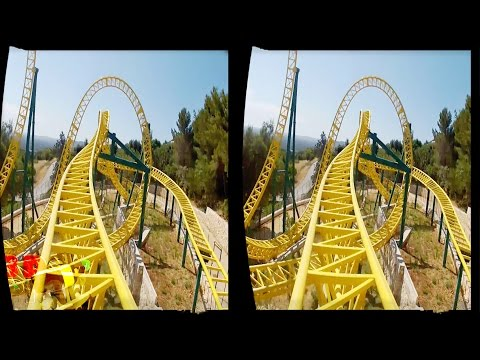 3D - VR/Active/Passive - Yellow Travel Roller Coaster