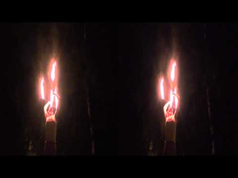3DHD Fire arts practice Parc Lafontaine Fire eater