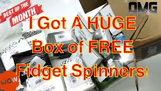 Big Box of FREE Fidget Spinner Unboxing! + 5 Giveaways Announced!