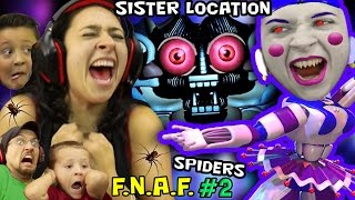 CRINGEY BALLERINA Scares MOM! FNAF SISTER LOCATION #2 w/ REAL SPIDERS (FGTEEV SCARY Ballora Gameplay