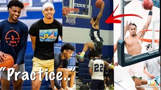 Amari Bailey And Bronny James Shows Off INSANE Bounce In Practice..