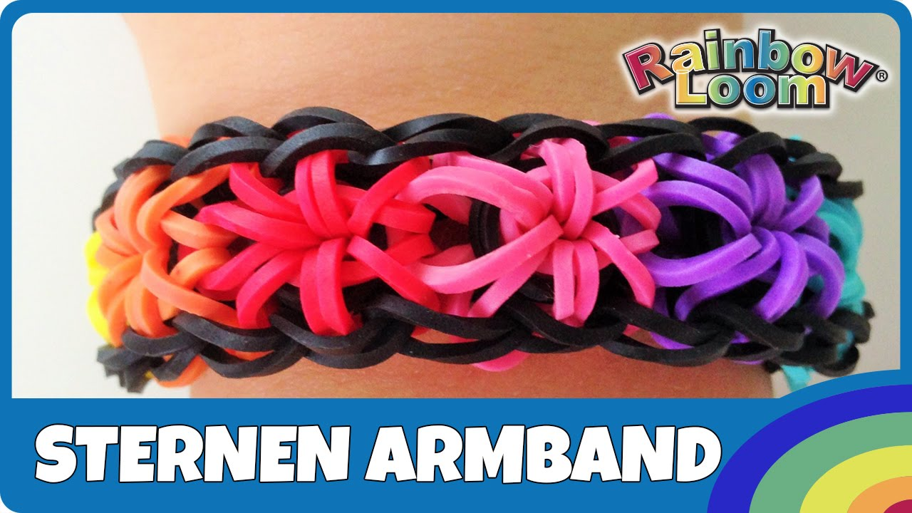rainbowloom sternen armband deutsche anleitung youtube. Black Bedroom Furniture Sets. Home Design Ideas