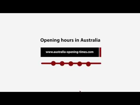 Opening hours in Australia on australia-opening-times.com