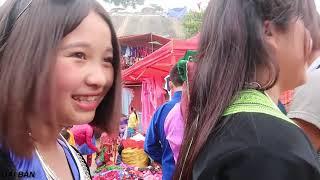 Chợ Tình (T5)   Bén duyên với em gái H'Mông xinh gái ở Chợ Tình Khâu Vai - 2019   GÁI BẢN