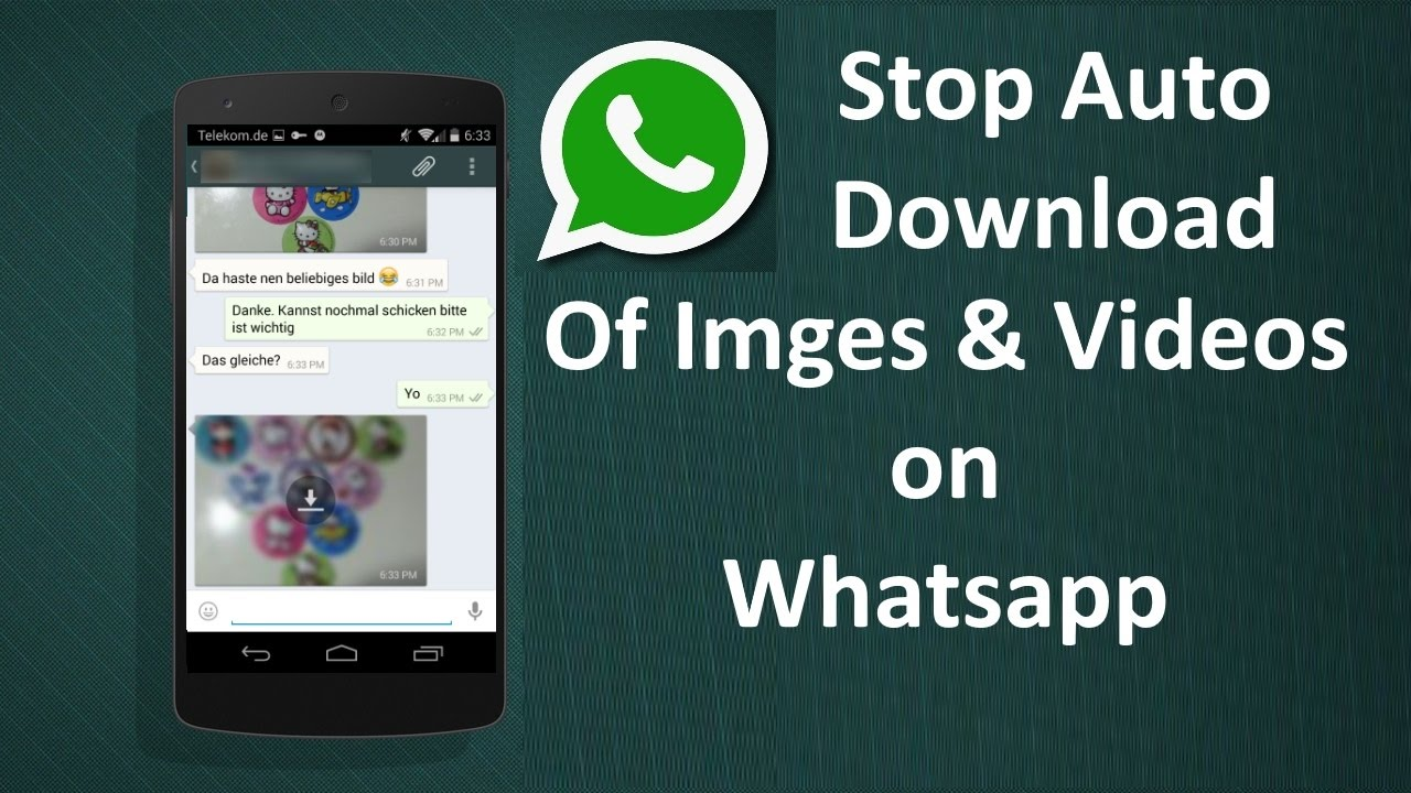 Whatsapp turn off auto download android