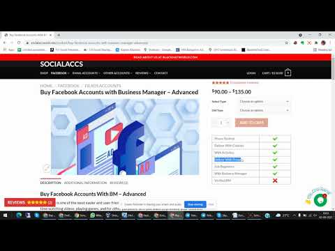How to Buy Facebook Accounts with Business Manager - socialaccounts.me