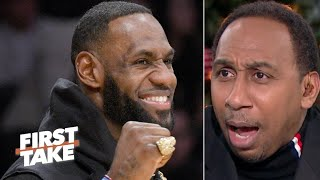 Stephen A. is annoyed by the idea of the Lakers load managing LeBron | First Take