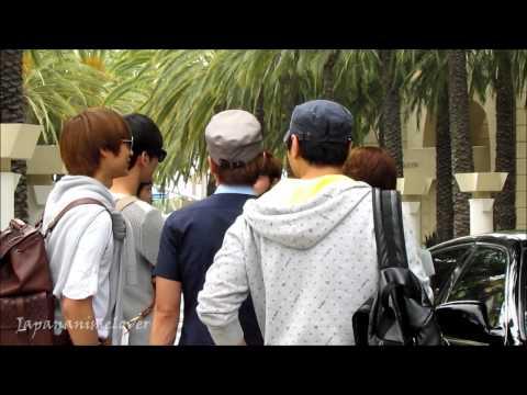 SuJu, Changmin, Minho leaving hotel 120519