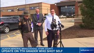 Afternoon update: Officials hold news conference on 7th grader who shot himself