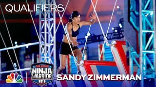 First Mom to Hit a Buzzer! Sandy Zimmerman's Run - American Ninja Warrior Sea/Tac Qualifiers 2019
