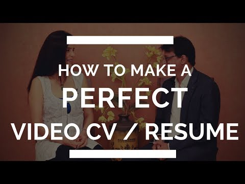 How To Make A Perfect Video Resume/CV | Create a Successful Video CV for Students