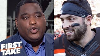 Damien Woody not backing down from Baker Mayfield after Hue Jackson comments   First Take