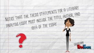 Intro. to Literary Analysis