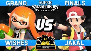 Smash Ultimate Tournament Grand Finals - Wishes (Inkling) vs Jakal (Pokemon Trainer) - CN:B-Airs 165