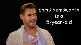 chris hemsworth is a 5-year-old