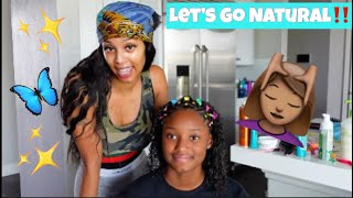 GIVING MY DAUGHTER A NATURAL LOOK!!(SUPER CUTE)