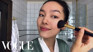 Model Fei Fei Sun Perform Skin-Care Magic | Beauty Secrets | Vogue
