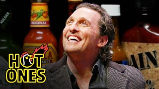 Matthew McConaughey Grunts it Out While Eating Spicy Wings | Hot Ones