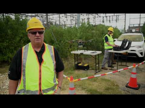 PSEG Long Island uses drone to help inspect electrical transmission and distribution system in Brentwood, NY. to improve reliability.
