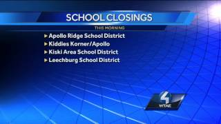 School Closings in Severa Districts
