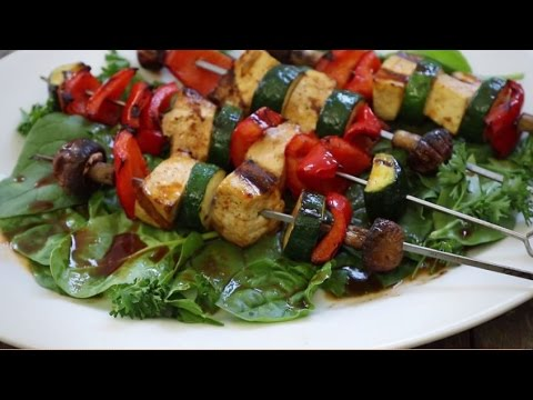 Grilling Recipes - Tofu Skewers with Sriracha Sauce