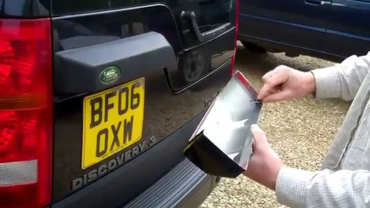 Land Rover Discovery 3 Rear Door Light Housing Cover Youtube