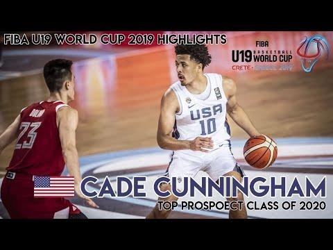 HIGHLIGHTS CADE CUNNINGHAM (11.7PTS/4.9REB/5.7AST) FIBA U19 WORLD CUP - Full Tournament Highlights