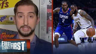 There's no reason Clippers should be playoff favorites VS Lakers — Nick Wright | FIRST THINGS FIRST