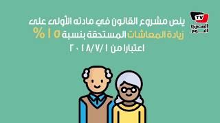 مجلس النواب يوافق نهائياً على مشروع قانون زيادة المعاشات بنسبة 15 ...