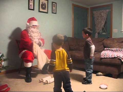 Santa visits our house 2011