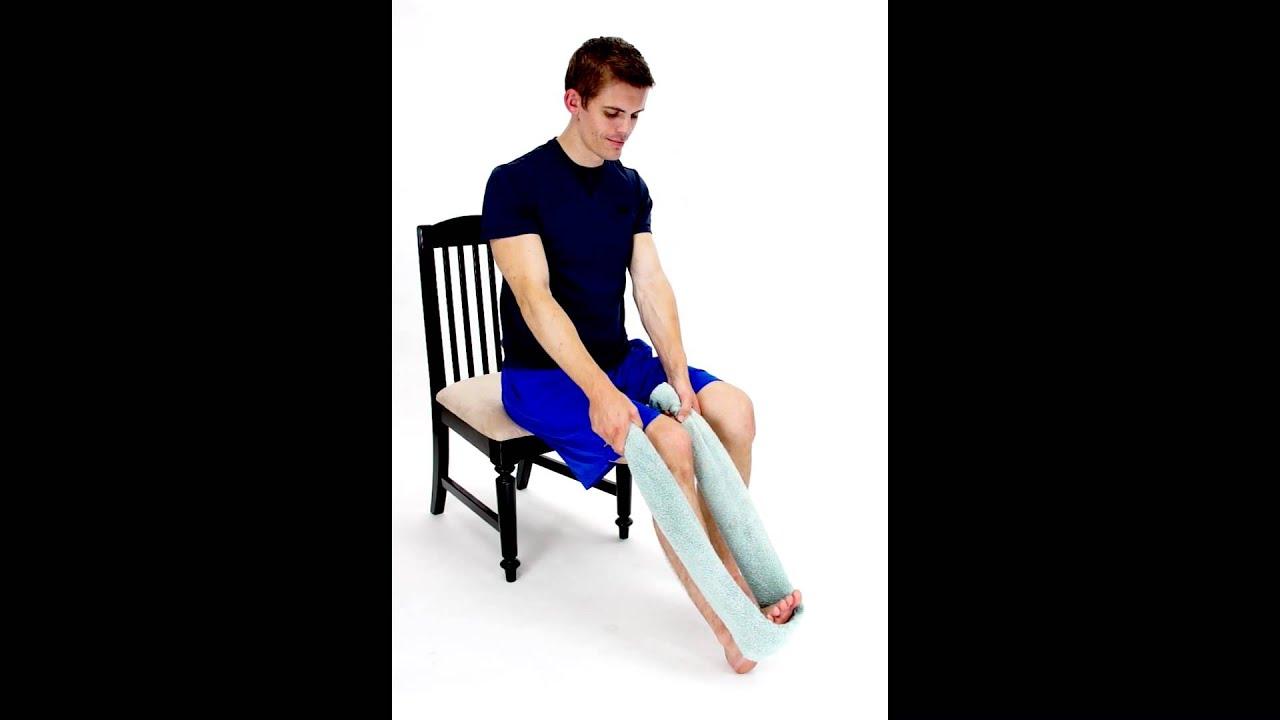 Seated Calf Stretch Soleus Hep2go Youtube