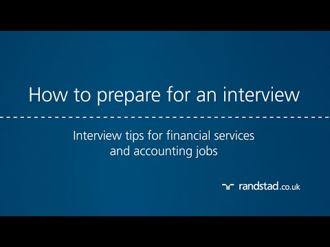 How to prepare for an interview: Interview tips for financial services and accounting jobs
