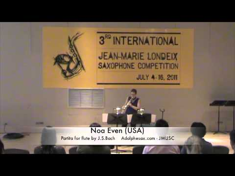 3rd JMLISC: Noa Even (USA) Partita for flute by J.S.Bach