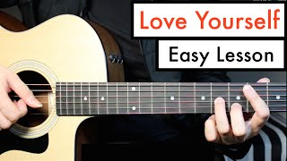 Love Yourself - Justin Bieber - Guitar Lesson (Tutorial) Chords